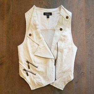 [Bebe] Faux Leather Vest